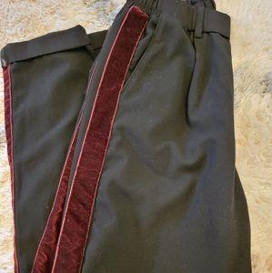 Bershka Black Striped Trousers